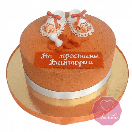 Торт детский на крестины велюровый №1694