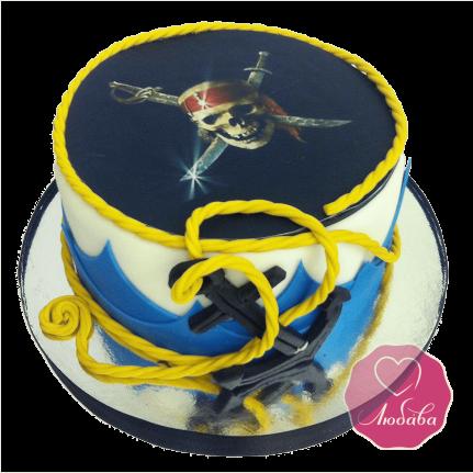 Торт детский Пират веселый Роджер №1696