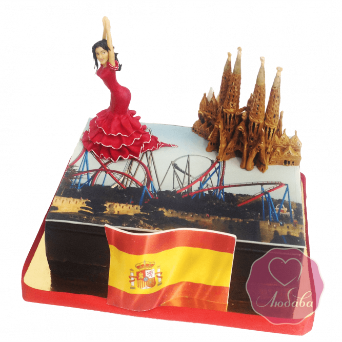 Торт праздничный испанские мотивы №1698