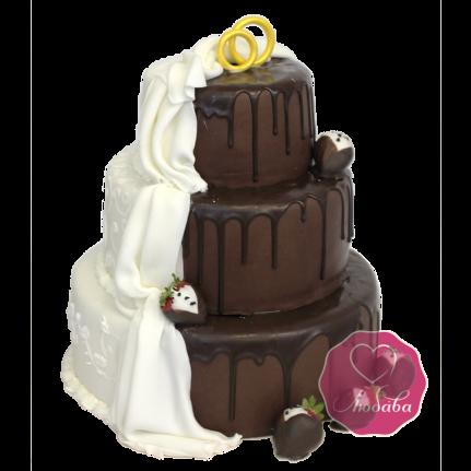 Торт свадебный шоколадный №1721