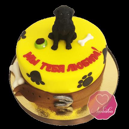 Торт с собакай Лабрадор №1728
