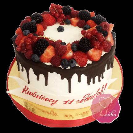 Торт ягодный с шоколадом №1731