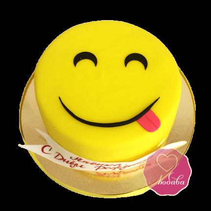 Торт смайлик с языком №1738