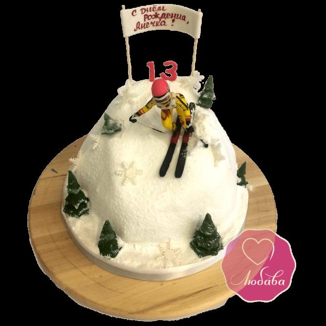 Торт детский горные лыжи №1742