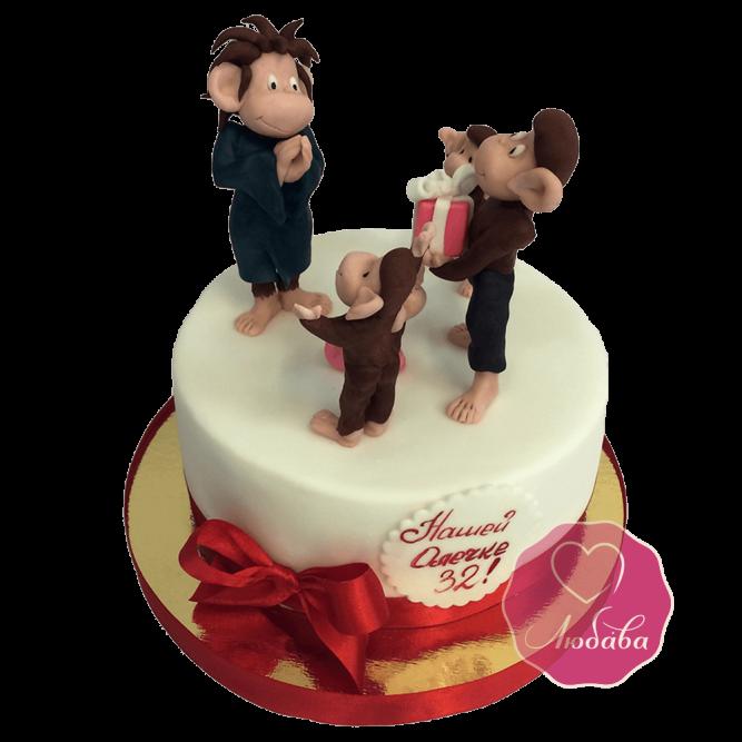 Торт с обезьянками №1746