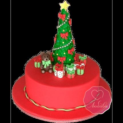 Торт Новогодний с елочкой №1755