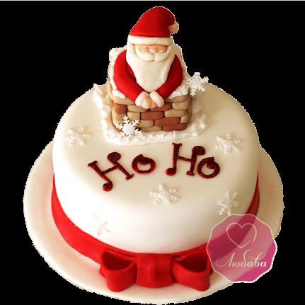 Торт Новогодний с Дедом Морозом №1756
