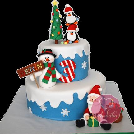 Торт Новогодний Дед мороз и компания №1760