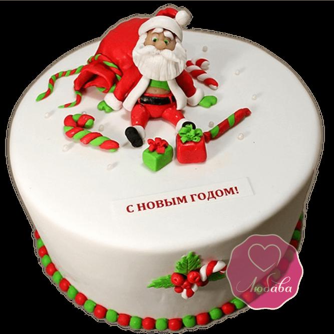 Торт Новогодний Дед Мороз устал №1764