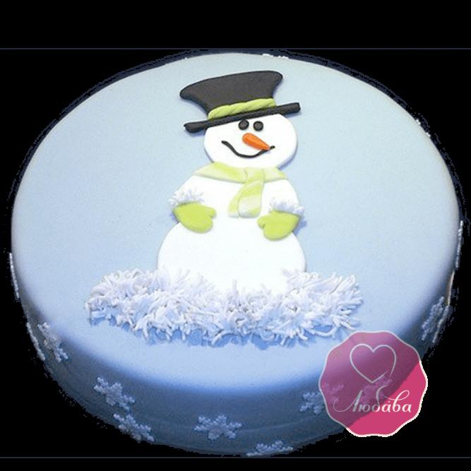Торт Новогодний снеговик №1767