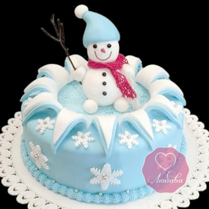 Торт Новогодний снеговичок №1769
