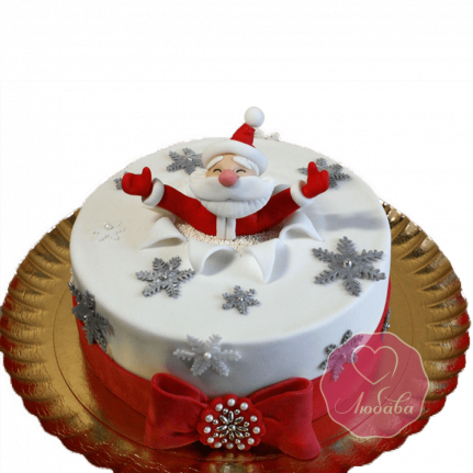 Торт Новогодний Дед Мороз в сугробе №1770
