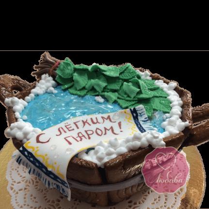 Торт на день рождения банщику с веником №1777