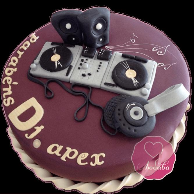 Торт на день рождения диджею №1778
