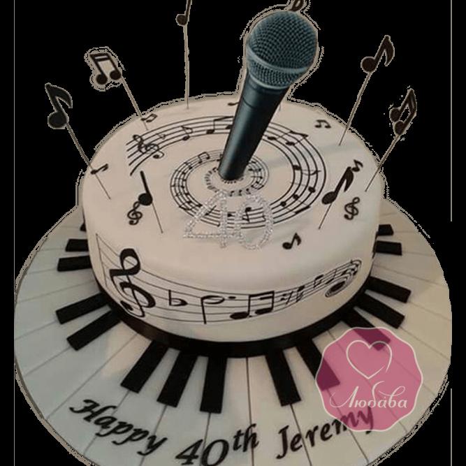 Торт на день рождения ведущему №1783