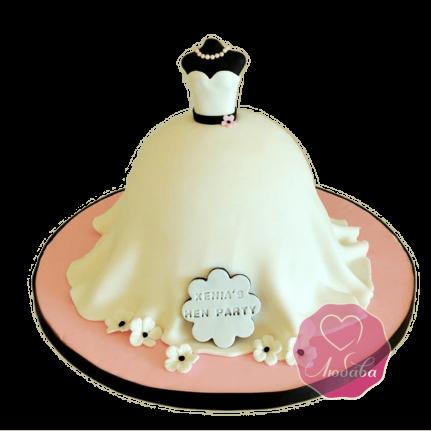 Торт на день рождения дизайнеру платье №1786
