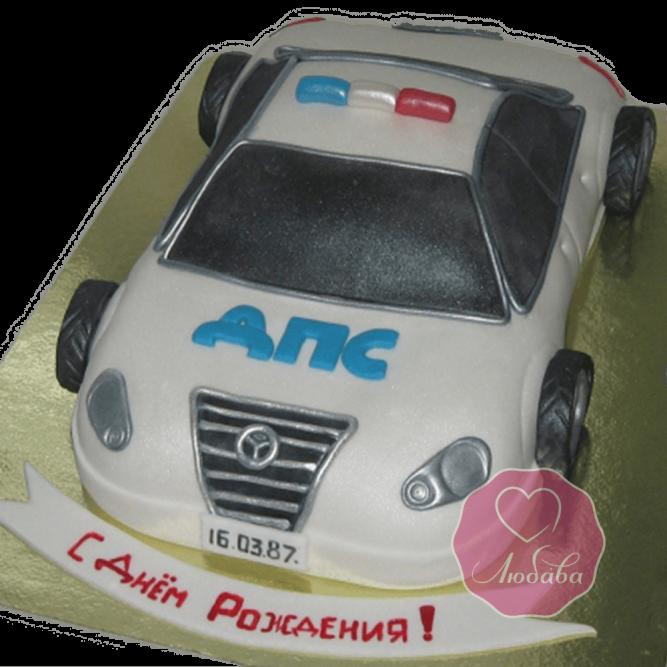 Торт на день рождения работнику ГИБДД №1787