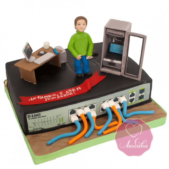 Торт на день рождения системному администратору №1796