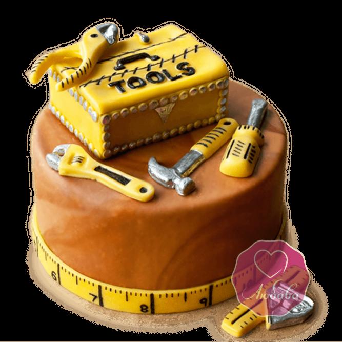 Торт на день рождения механику инструменты №1804