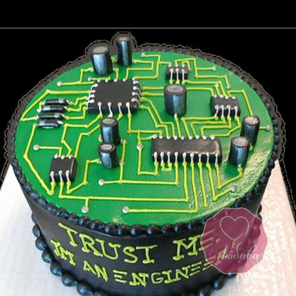 Торт на день рождения инженеру №1805
