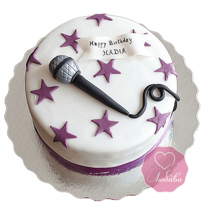 Торт на день рождения певцу певице №1806