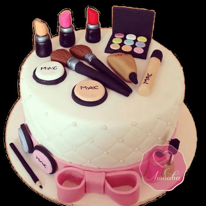 Торт на день рождения стилисту makeup №1807
