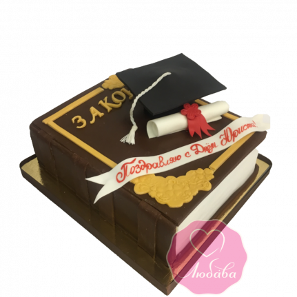 Торт на день рождения для юриста атрибуты №1810
