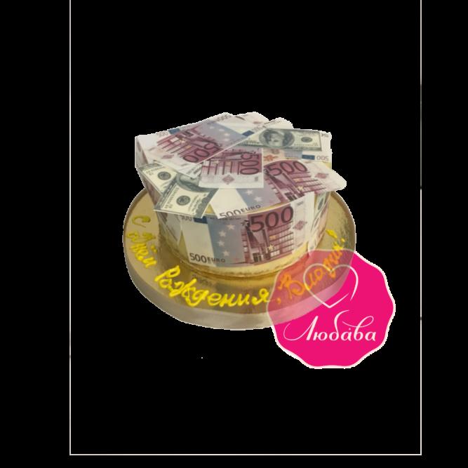 Торт на день рождения деньги №1813