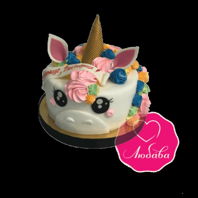 Торт детский единорог №1827