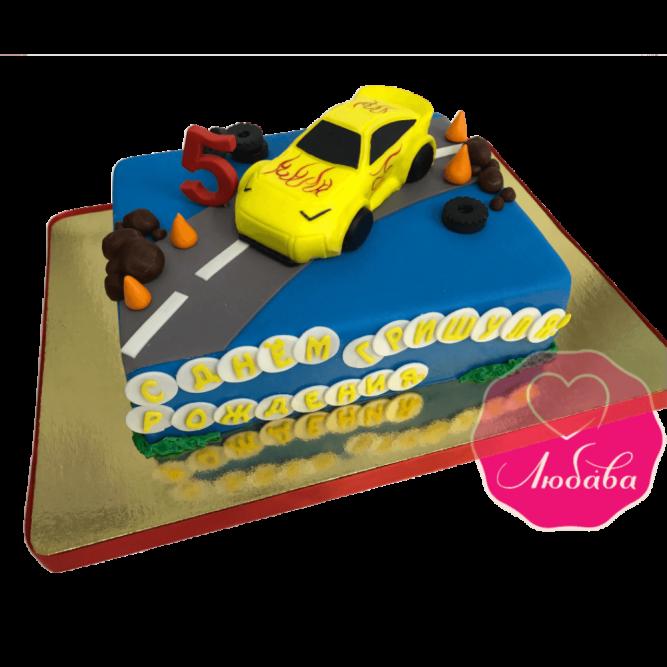 Торт детский гоночная машинка №1832