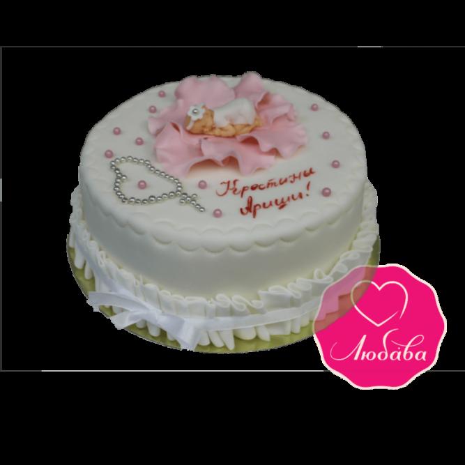 Торт детский на Крестины №1834