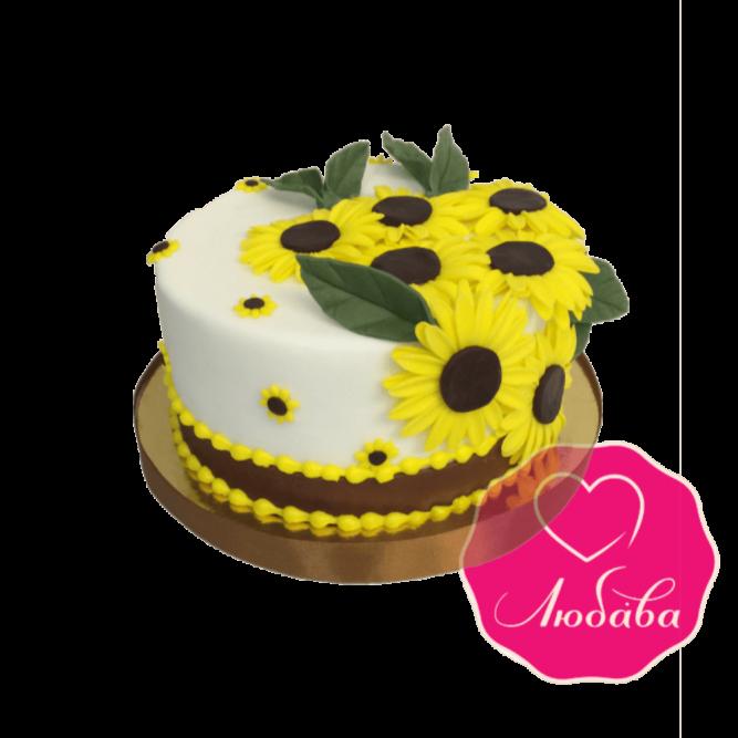 Торт на день рождения подсолнухи №1835