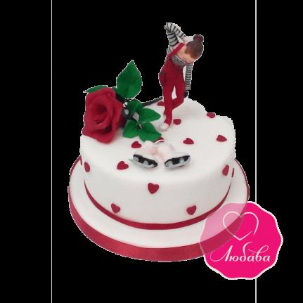 Торт на день рождения для фигуристки №1845