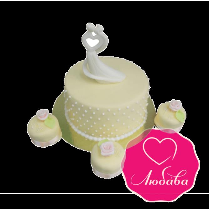 Торт свадебный с капкейками №1847