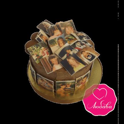 Торт на день рождения с фотографиями №1851