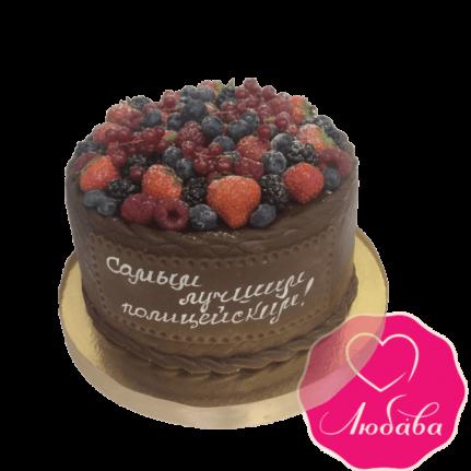 Торт для полицейских с ягодами №1855