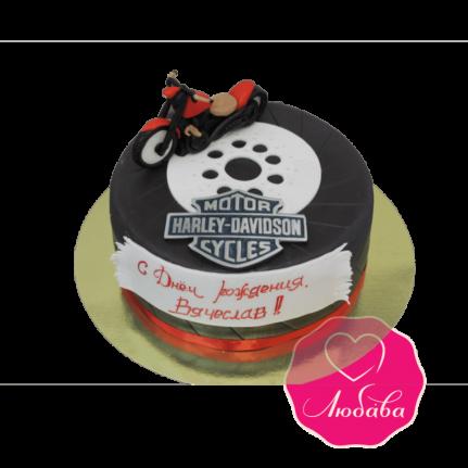Торт на день рождения Харлей №1858