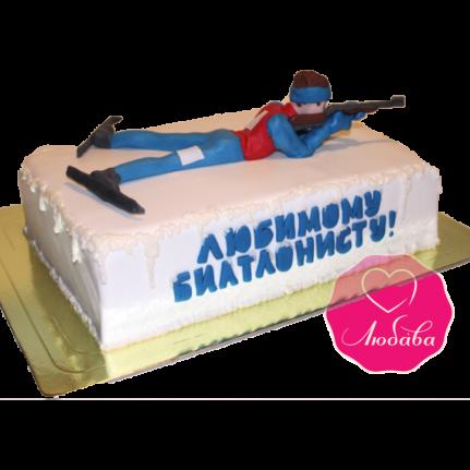 Торт на день рождения биатлонисту №1860