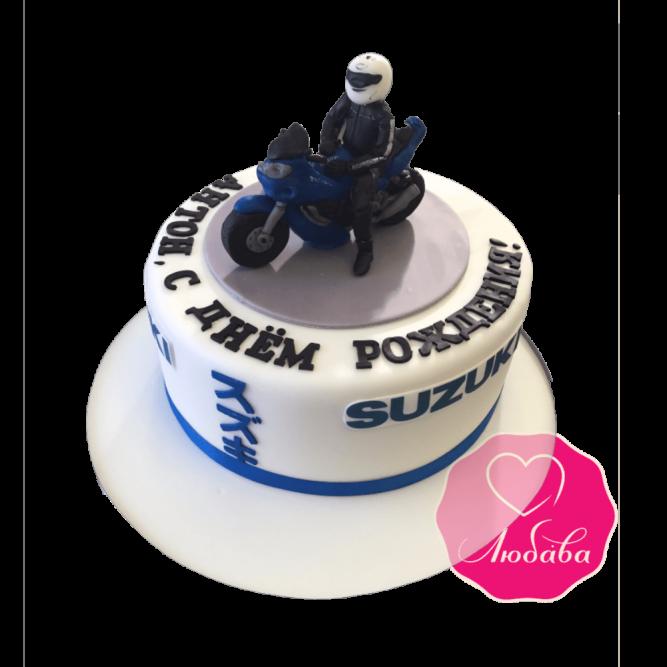 Торт на день рождения мотоцикл SUZUKI №1865