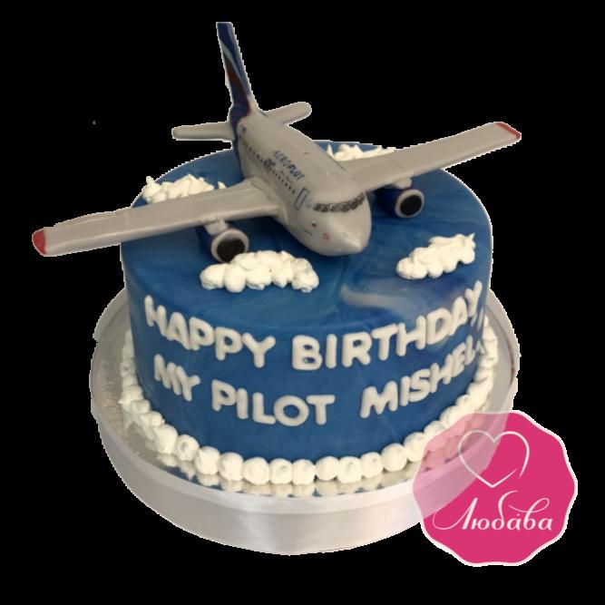 Торт на день рождения самолет №1866