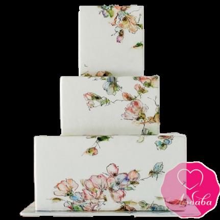 Торт свадебный в европейском стиле №1873
