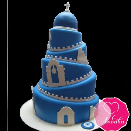 Торт свадебный в Греческом стиле №1884