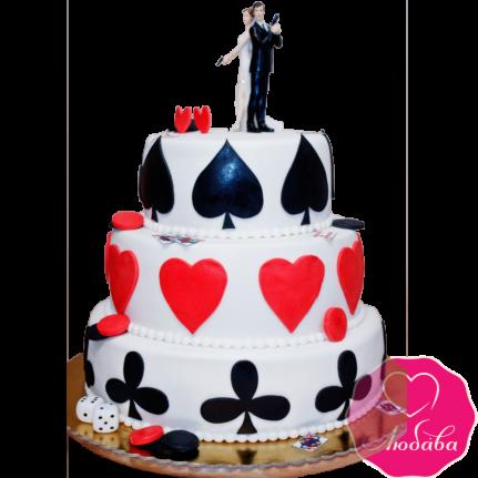 Торт свадебный в гангстерском стиле №1885