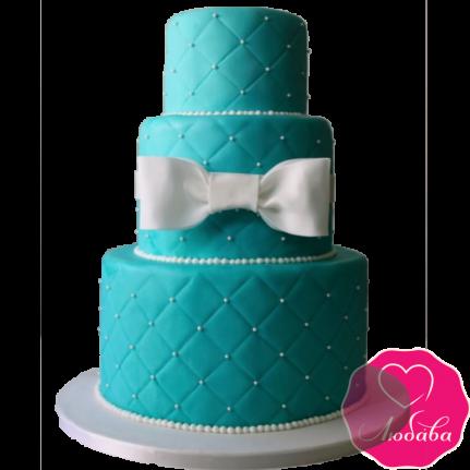 Торт свадебный с стиле Тиффани №1888