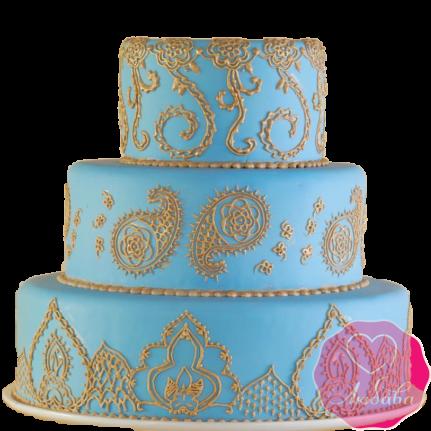 Торт свадебный в Восточном стиле №1889