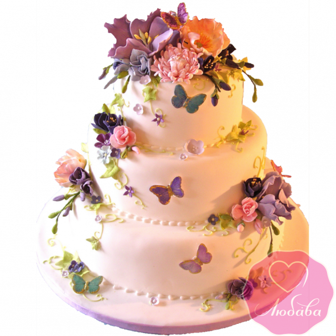 Торт свадебный в летнем стиле №1900