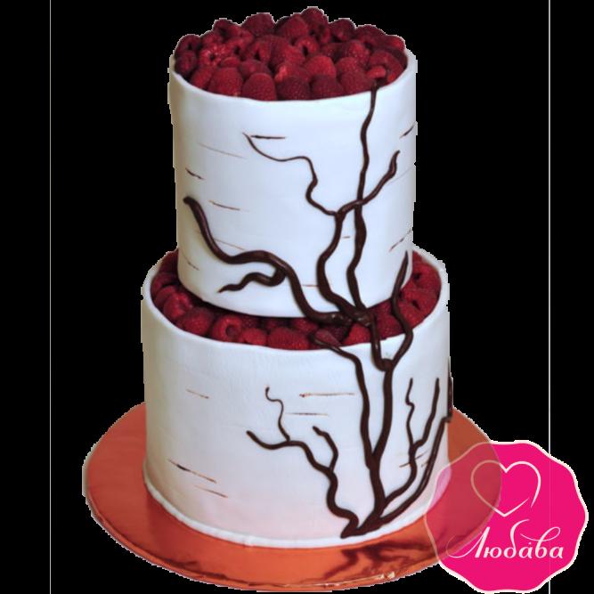 Торт свадебный береза №1915