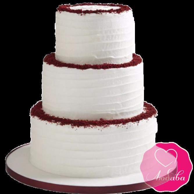 Торт свадебный классический №1927