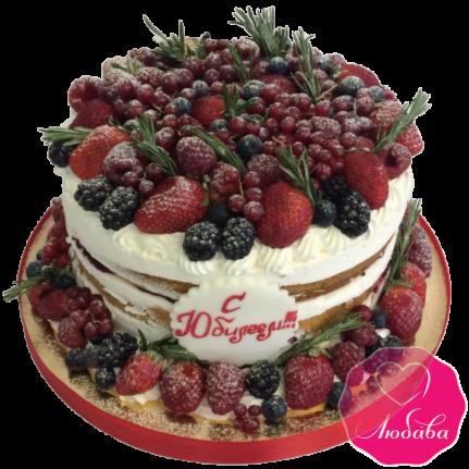 Торт на юбилей ягодный №1933
