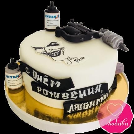 Торт на день рождения для мастера тату №1934